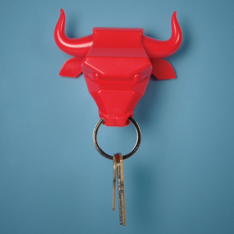 Bull Nose Magnetized Keyring Holder