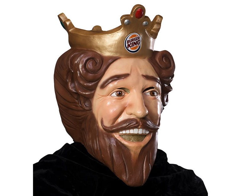 Burger King Creepy Halloween Mask Green Head