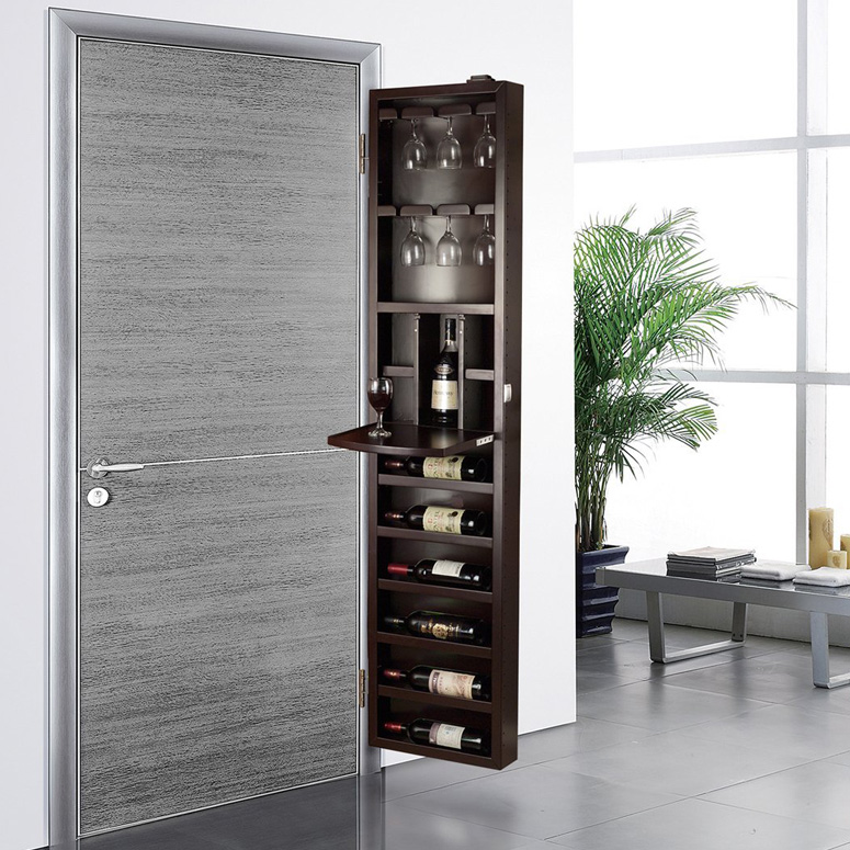 Cabidor behind the door wine storage cabinet the green for Muebles de cocina vibbo