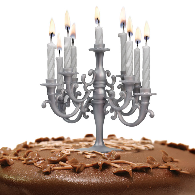 Candelabra Cake Topper