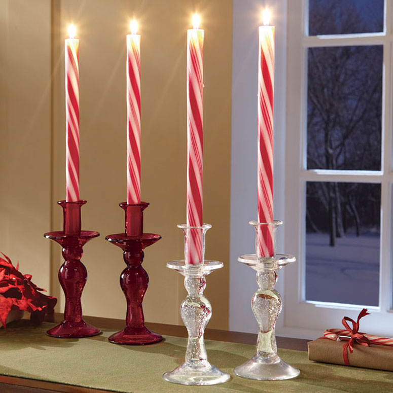 Candy Cane Candles - The Green Head