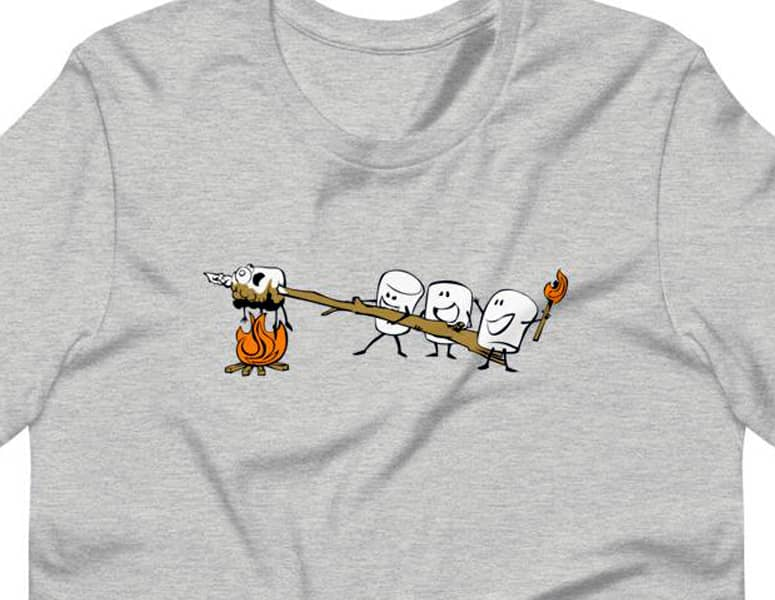 cannibal marshmallows t-shirt