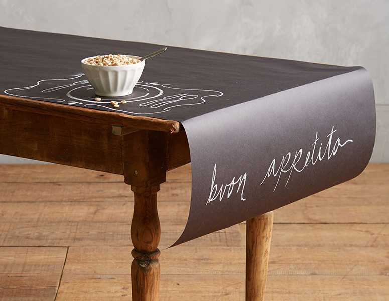 Bon Chalkboard Paper Table Runner