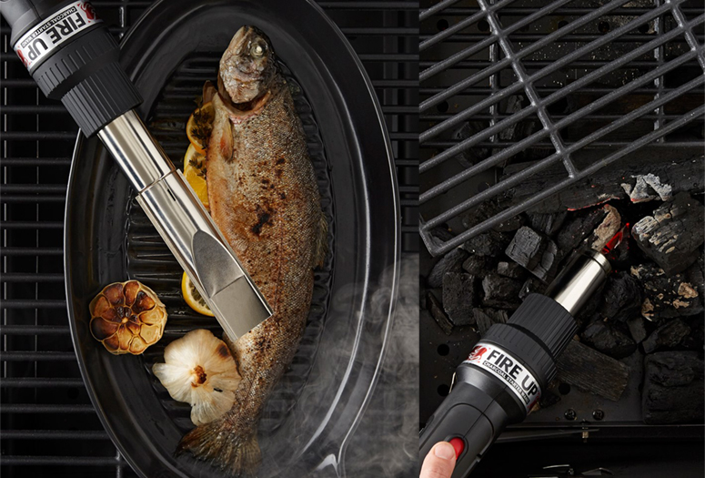 Charcoal Companion Fire UP! - Grill Starter Wand and Food Smoker