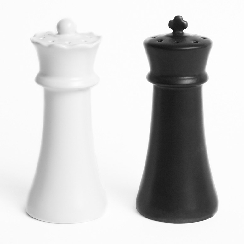 salt and pepper shakers. Checkmates - Salt And Pepper Shakers A