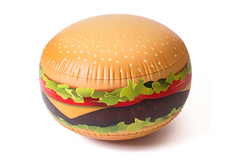 Cheeseburger Beach Ball