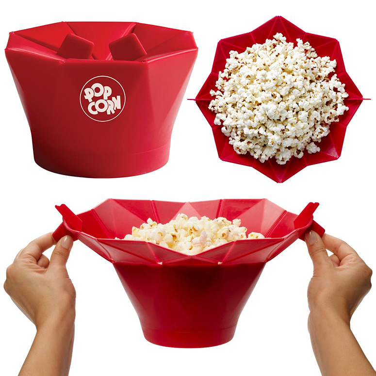 Chef N Pop Top Reusable Microwave Popcorn Popper Bowl