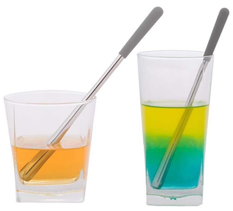 Chill-O Stainless Steel Swizzle Sticks - Chill and Stir Your Drink