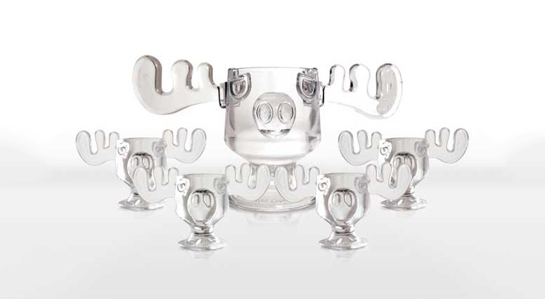 Christmas Vacation Moose Punch Bowl and Moose Mug Set