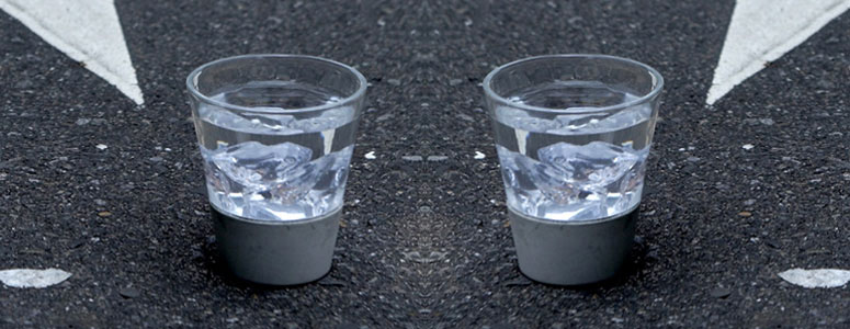 City Rain - Concrete and Glass Tumblers