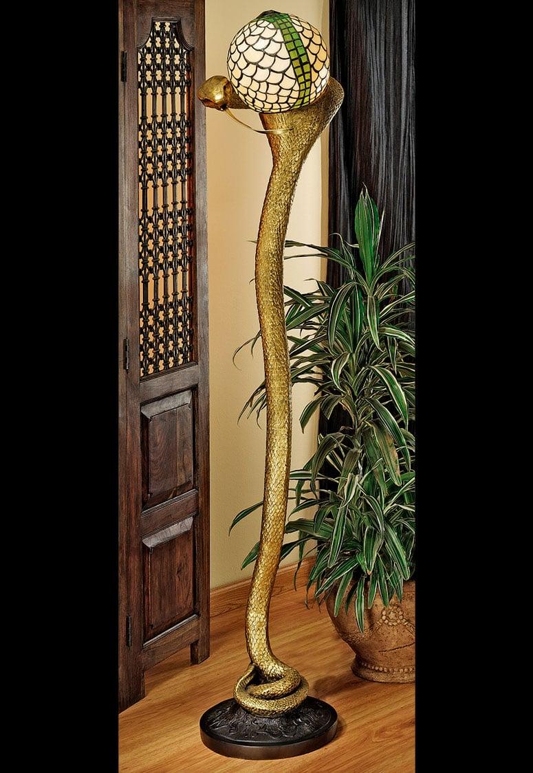 Cobra God Wadjet Sculptural Floor Lamp