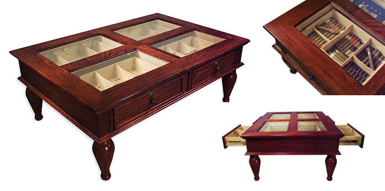Superieur Coffee Table Cigar Humidor