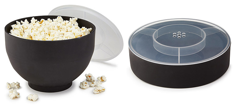 Collapsible No-Oil Popcorn Popper