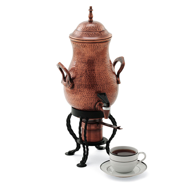 copper finished artisan coffee urn   the green head