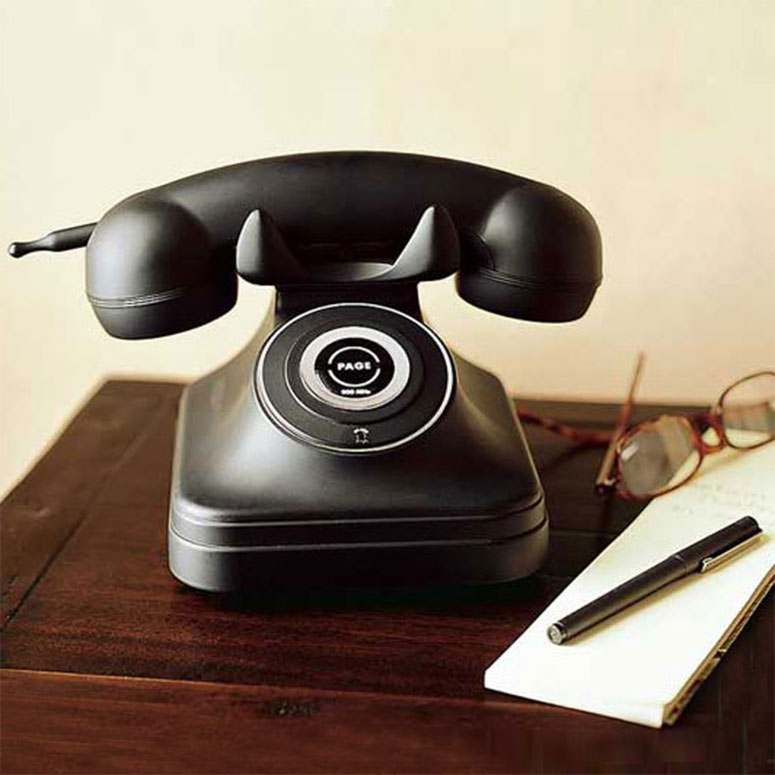 cordless 1930s retro style phone the green head. Black Bedroom Furniture Sets. Home Design Ideas
