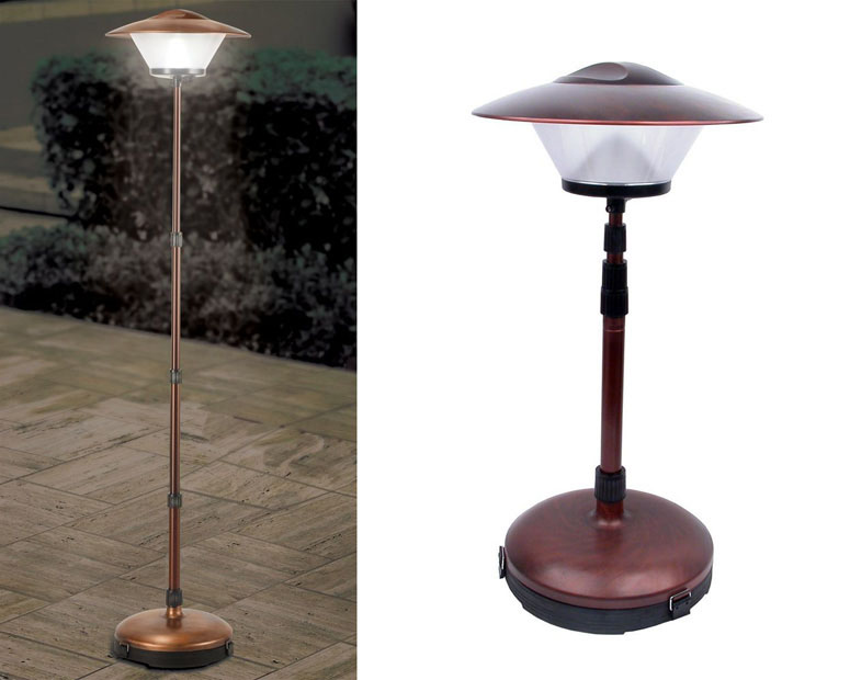 cordless telescoping patio lamp the green head. Black Bedroom Furniture Sets. Home Design Ideas
