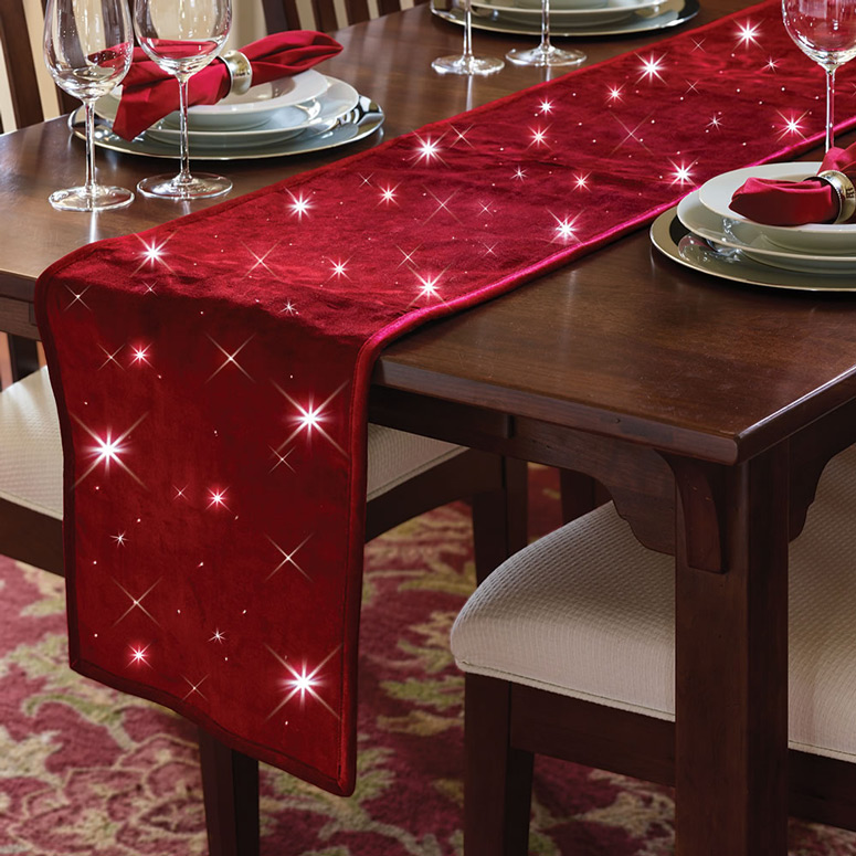 Cordless Twinkling Table Runner