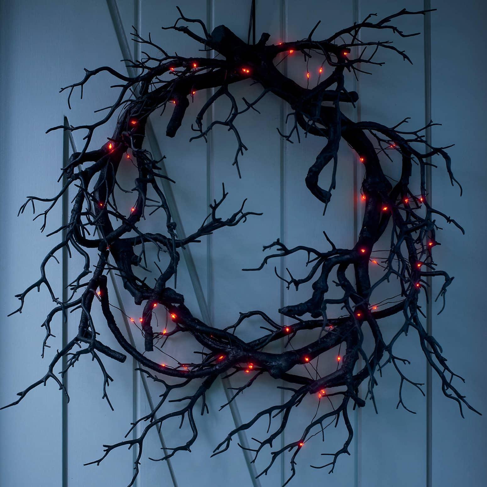 Creepy Black Branch Wreath The Green Head