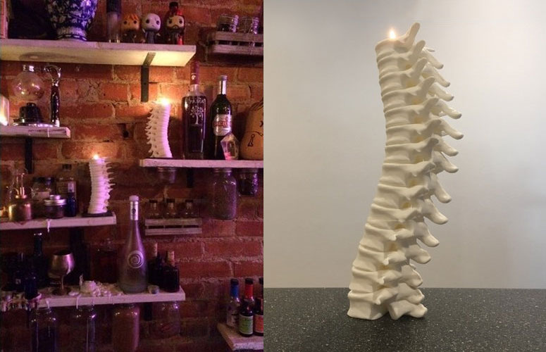 Creepy Spinal Column Candle Holder
