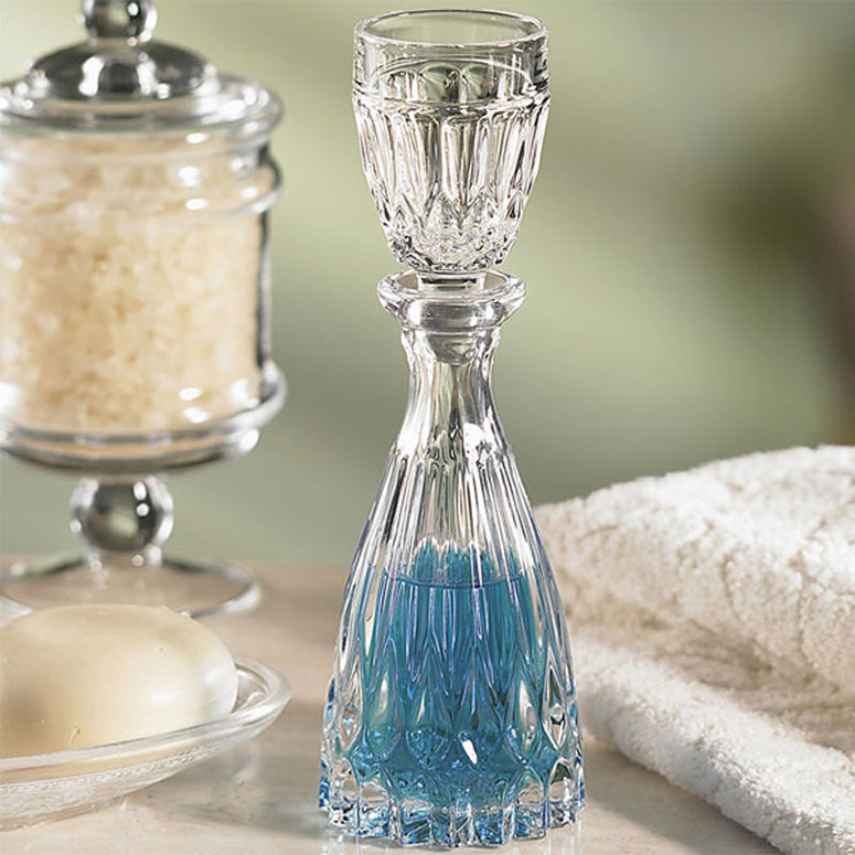 Crystal Mouthwash Decanter The Green Head