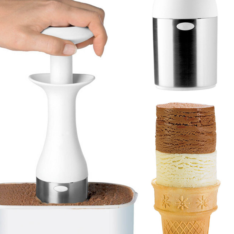 Cuisipro Scoop and Stack - Creates Cylindrical Ice Cream Blocks