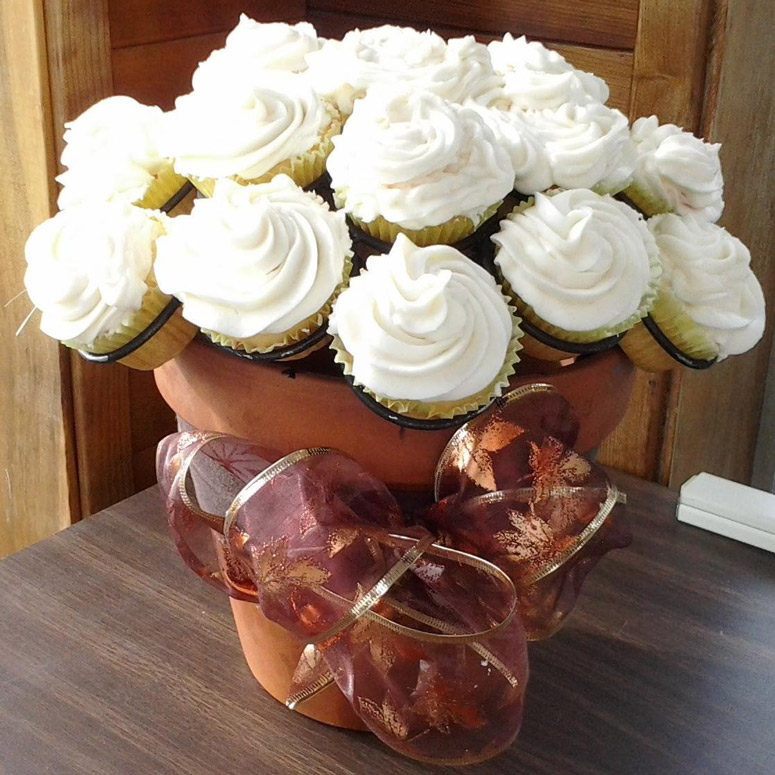 The Cupcake Rack - Create a Cupcake Bouquet in a Flower Pot - The ...
