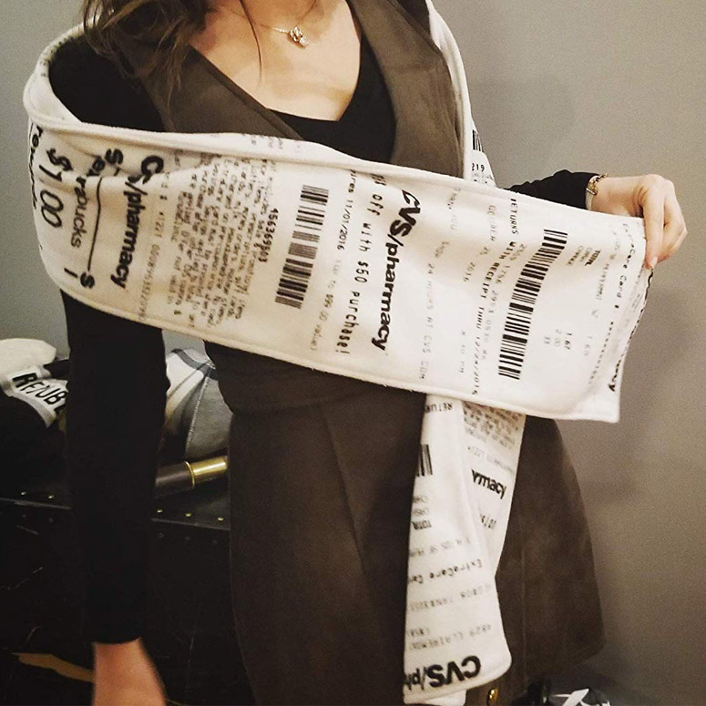 CVS Receipt Scarf