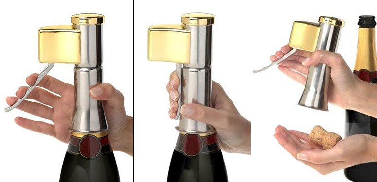 DescorJet Champagne Opener - Safely and Easily Pop a Cork
