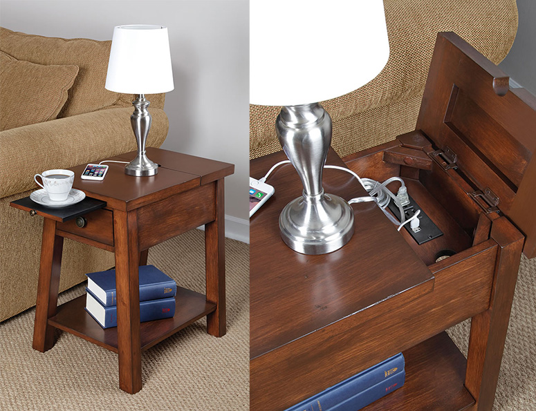 Device Charging End Table