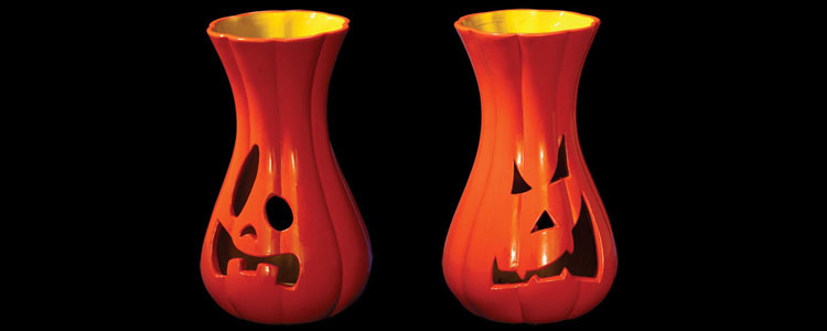 Distorted Gourd - Pumpkin Candle Holders