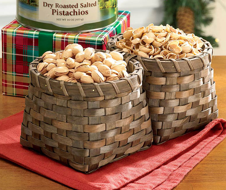 Double Sided Nut Basket for Opened and Unopened Shells