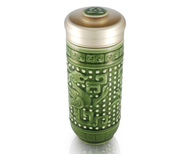 Dragon Double-Walled Travel Tumbler for Tea