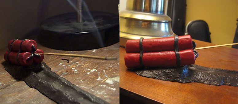 Dynamite Incense Holder