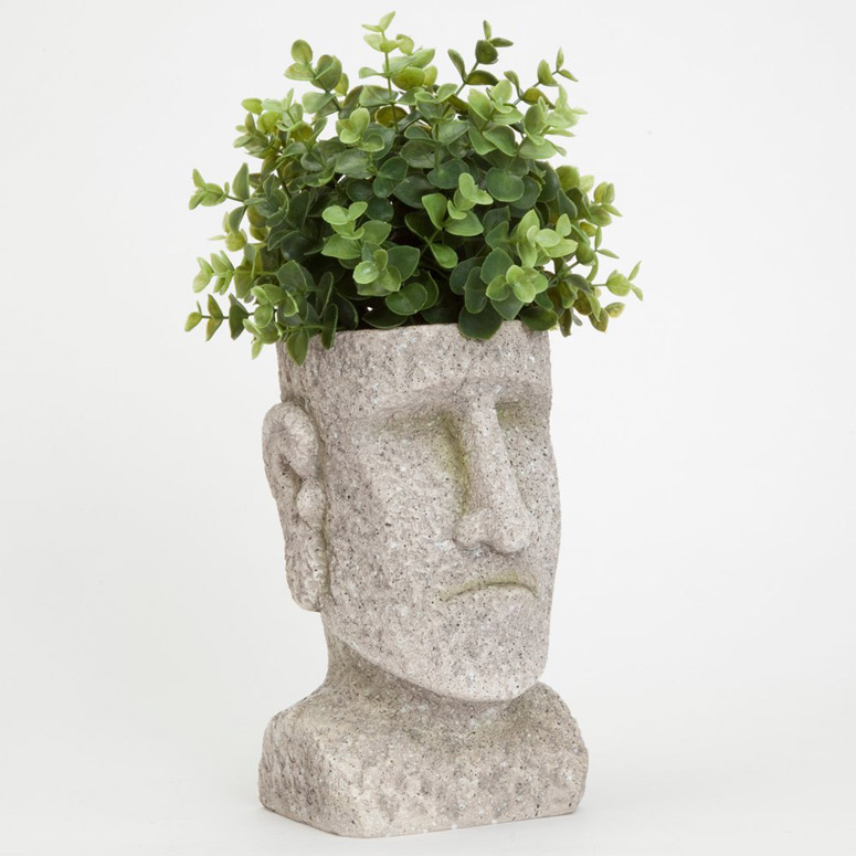 Easter Island Head Statue Planter