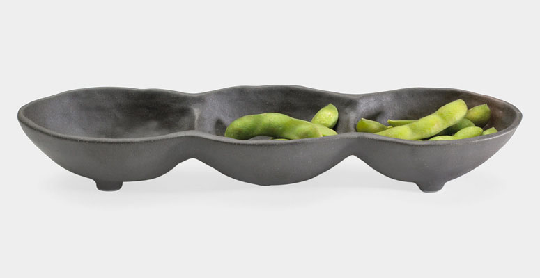 Edamame Pod - Three Section Dish
