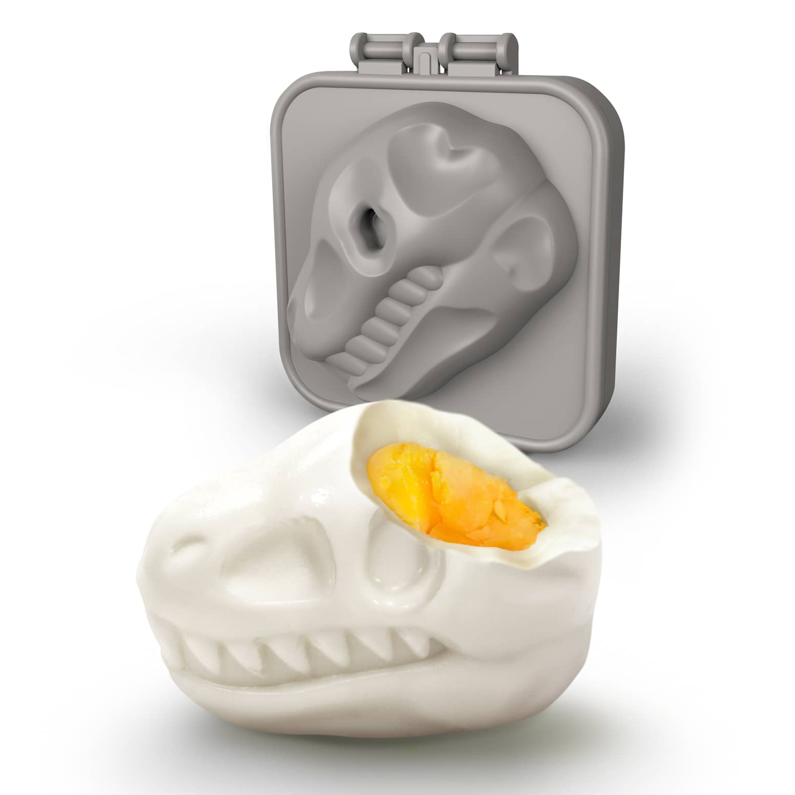 EGG-A-MATIC Dinosaur Skull - Hard-Boiled Egg Mold
