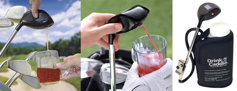 Electronic Drink Caddie Golf Club Drink Dispenser The