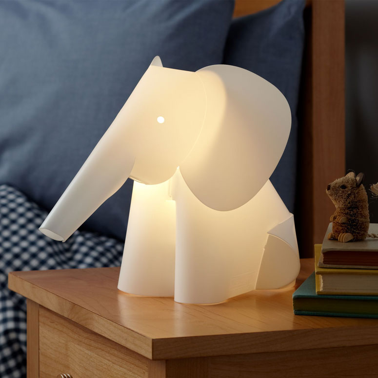 Elephant lamp nightlight the green head for Night light design