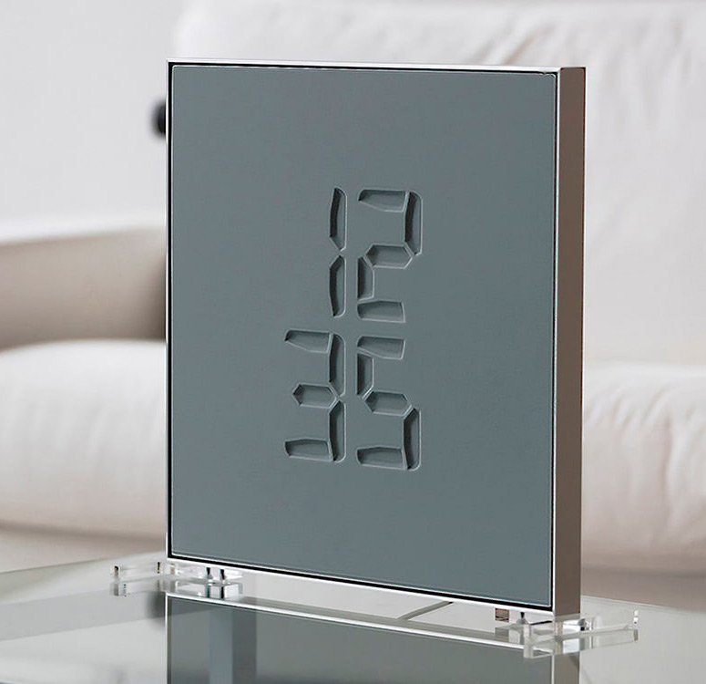 Etch Clock - Minimalist Transforming Digital Clock / Sculpture