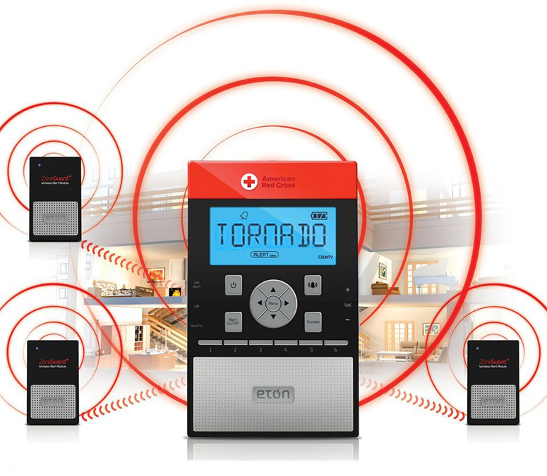 Eton ZoneGuard+ Whole Home Weather Alert System