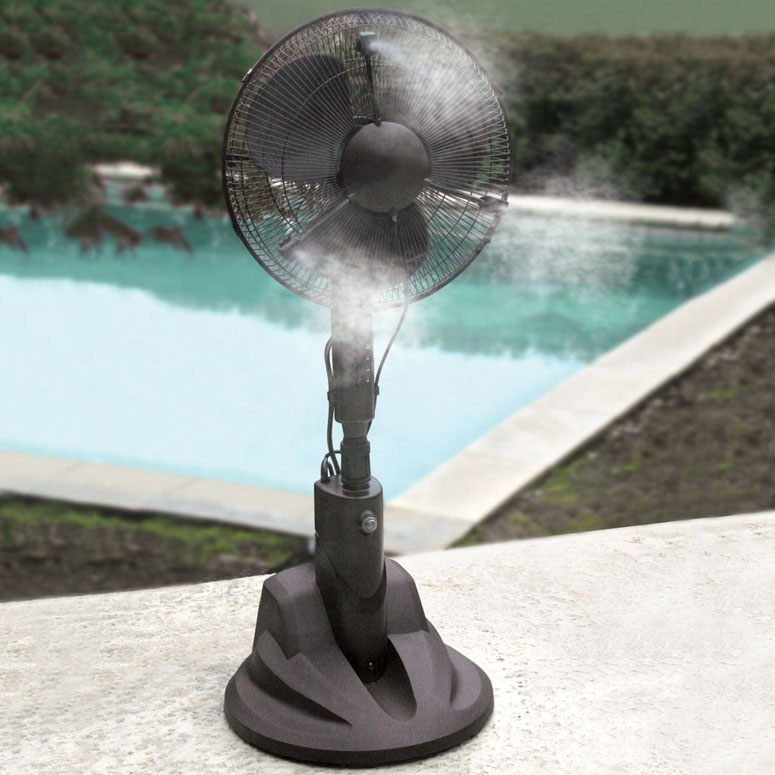 Cool Water Misting Fans : Evaporative misting fan the green head