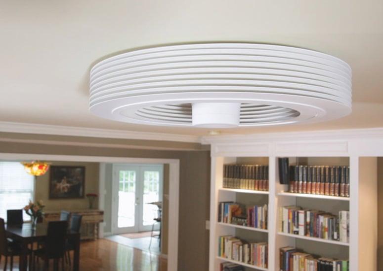 Exhale Fan World S First Bladeless Ceiling Fan The