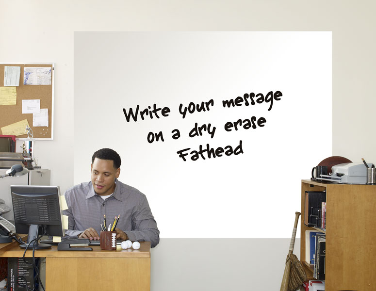 Fathead Dry Erase Wall Graphic The Green Head