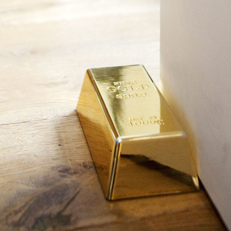 Faux Gold Bar Doorstop / Paperweight