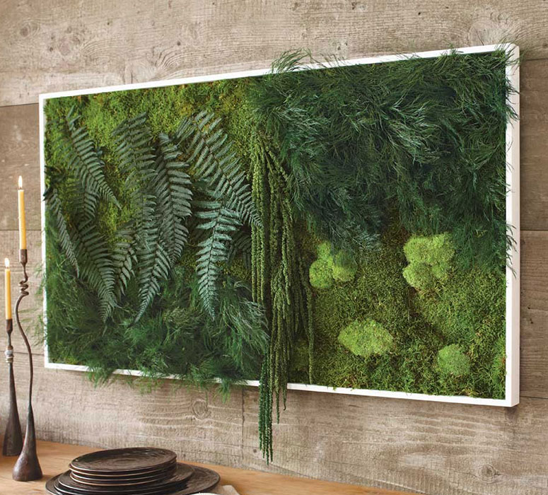 Wall Decor Green : Fern and moss wall art the green head