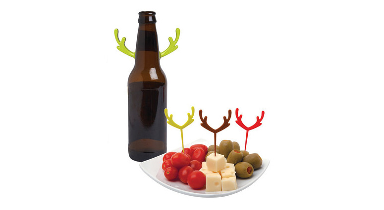 Festive Antler Drink Markers and Party Picks
