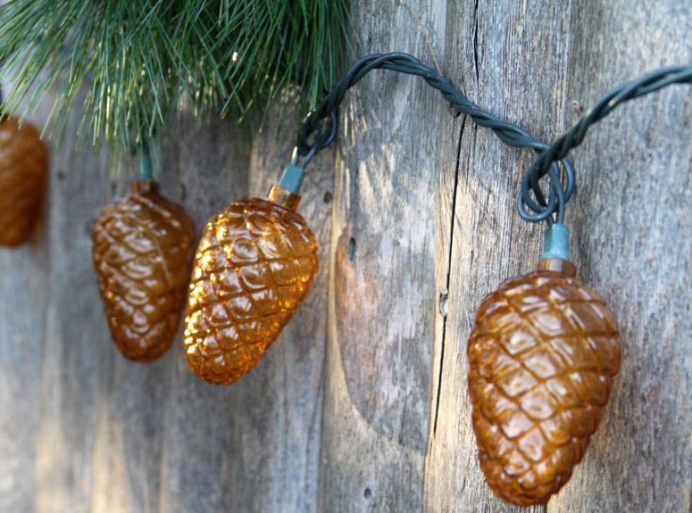 Festive Fall Pinecone String Lights