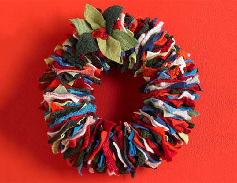 Festive Sweater Wreath