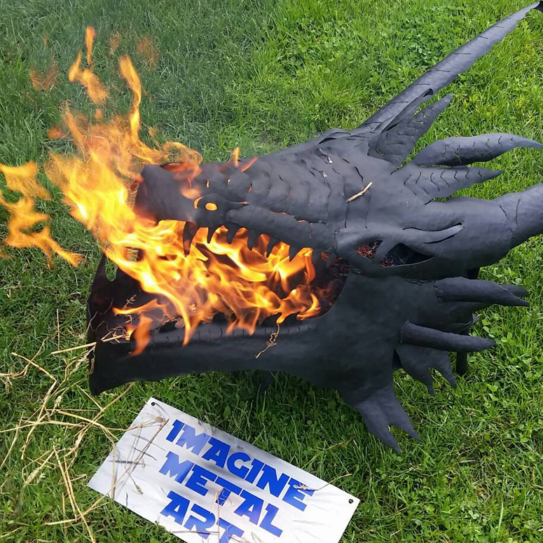 Fire-Breathing Dragon Fire Pit