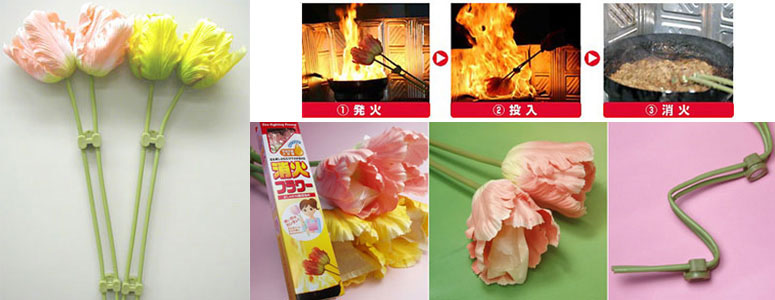Fire Flowers - Fire Extinguishing Decorative Silk Flowers